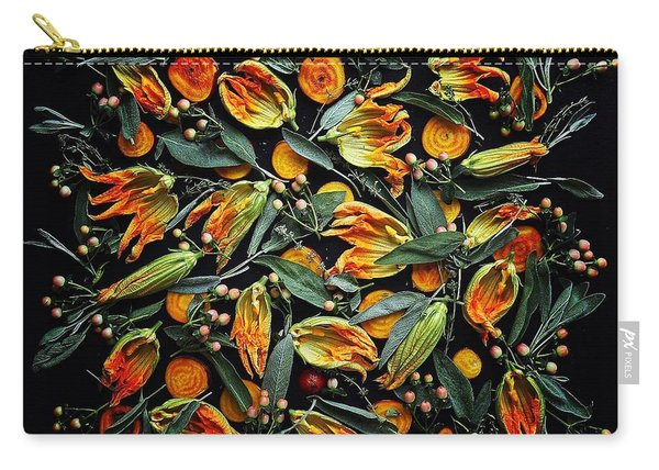 Zucchini Flower Patterns Carry-all Pouch