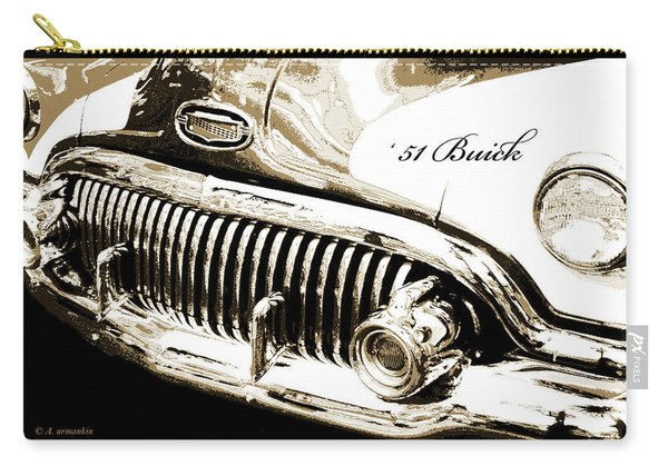 1951 Buick Super, Digital Art Carry-all Pouch