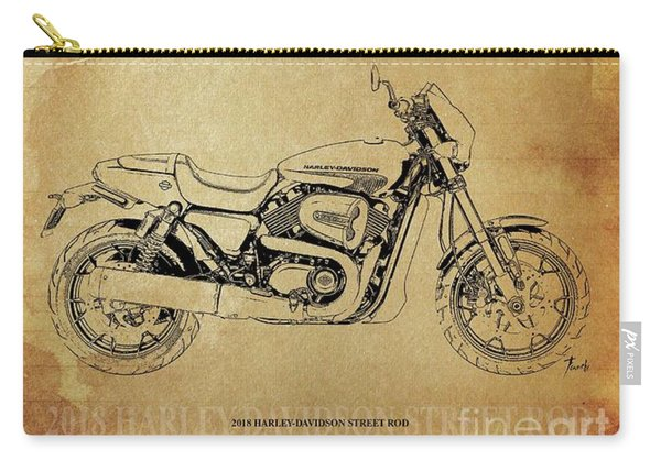 2018 Harley-davidson Street Rod, Original Artwork. Motorcycle Quote Carry-all Pouch
