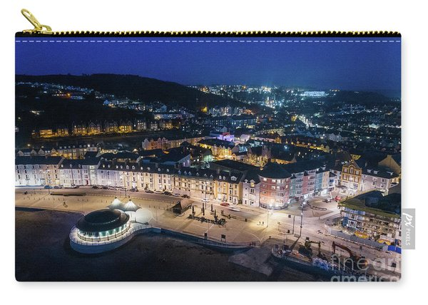 Aberystwyth Wales At Night From The Air Carry-all Pouch