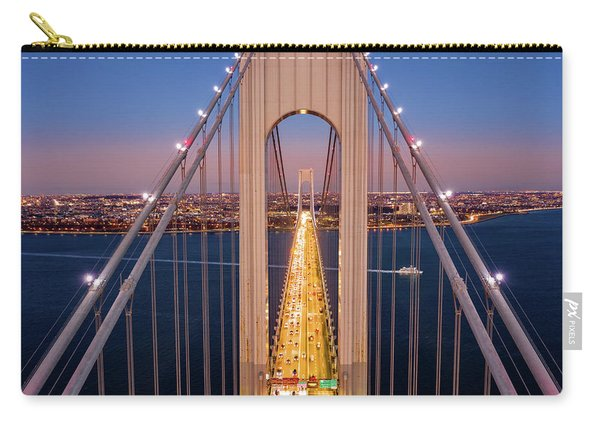 Aerial View Of Verrazzano Narrows Bridge Carry-all Pouch