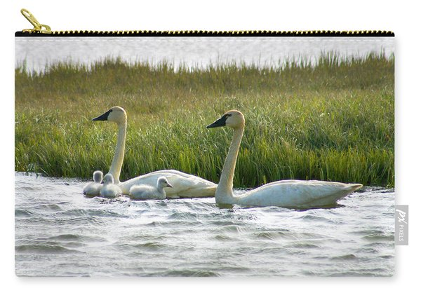 Arctic Tundra Swans And Cygnets Carry-all Pouch