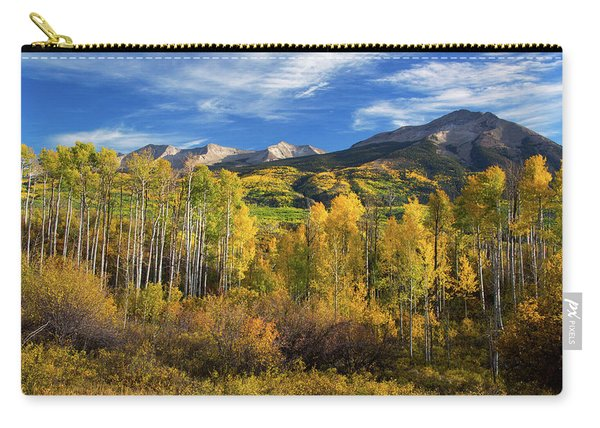 Carry-all Pouch featuring the photograph Aspens Of Kebler Pass by John De Bord