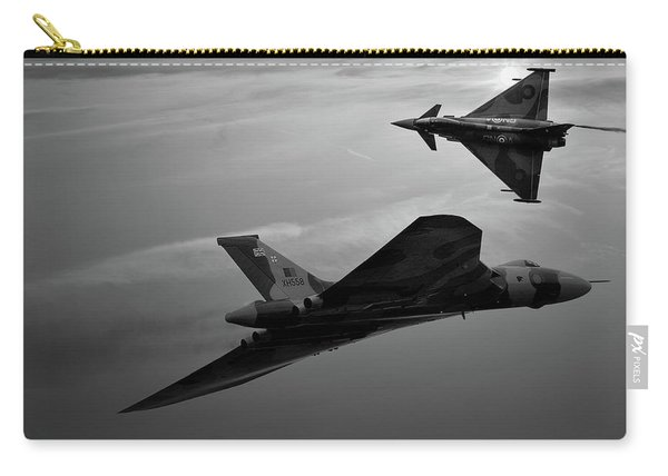 Avro Vulcan Xh558 And Eurofighter Typhoon Gina. Carry-all Pouch