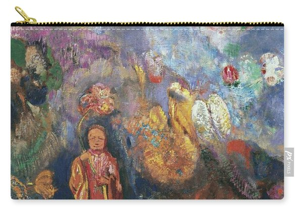 Buddah And Flowers, 1908 Carry-all Pouch