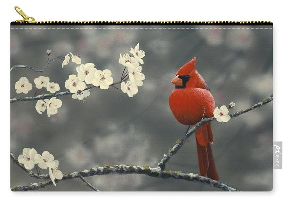 Cardinal And Blossoms Carry-all Pouch