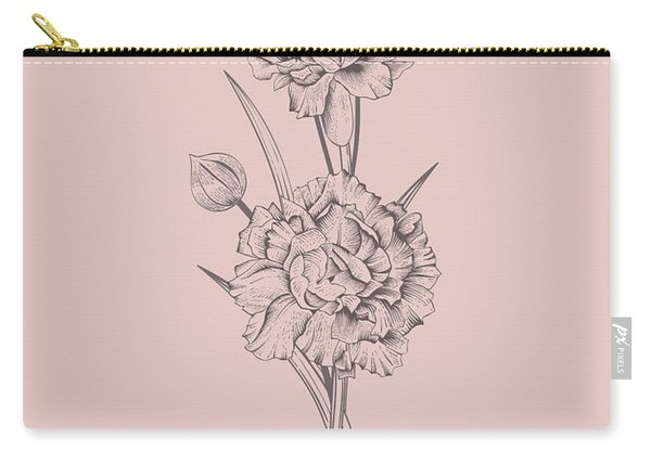 Carnation Blush Pink Flower Carry-all Pouch