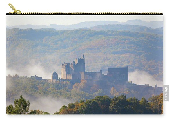 Chateau Beynac In The Mist Carry-all Pouch