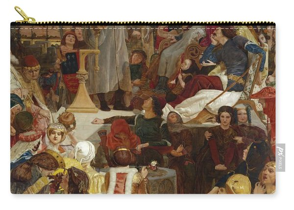Chaucer At The Court Of Edward IIi Carry-all Pouch