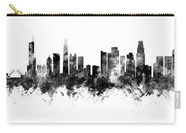 Chicago And Los Angeles Skylines Mashup Carry-all Pouch