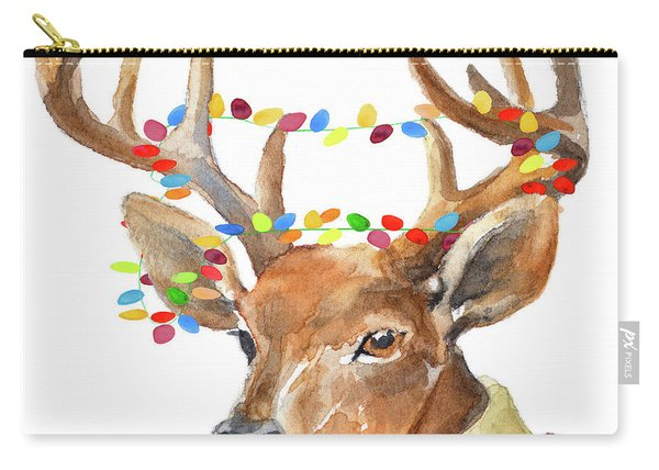 Christmas Lights Reindeer Sweater Carry-all Pouch