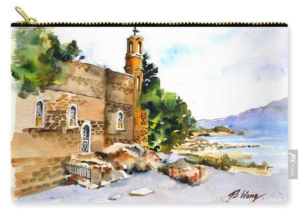Church Of Primacy, Galilee Carry-all Pouch
