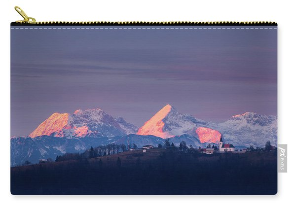 Church Of Saint Nicholas At Sunset Carry-all Pouch