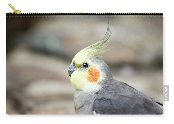 Carry-all Pouch featuring the photograph Close Up Of A Cockatiel by Rob D Imagery