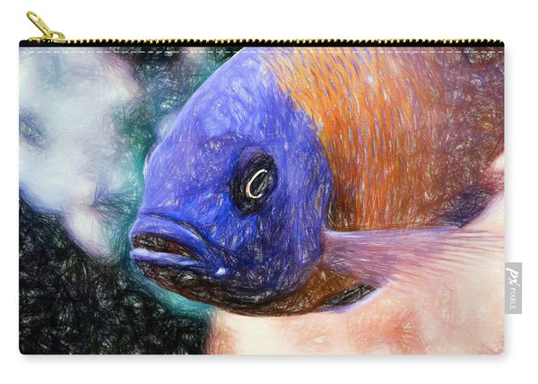 Colored Pencil Red Fin Borleyi Cichlid Carry-all Pouch