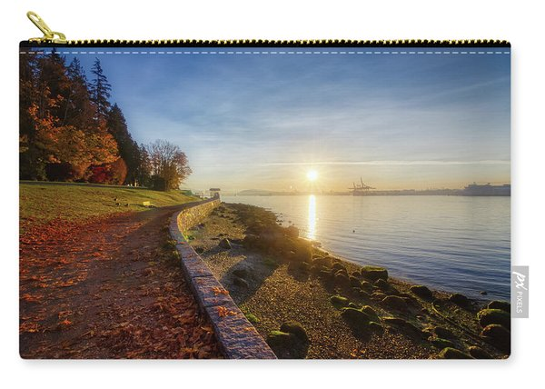 Colorful Autumn Sunrise At Stanley Park Carry-all Pouch