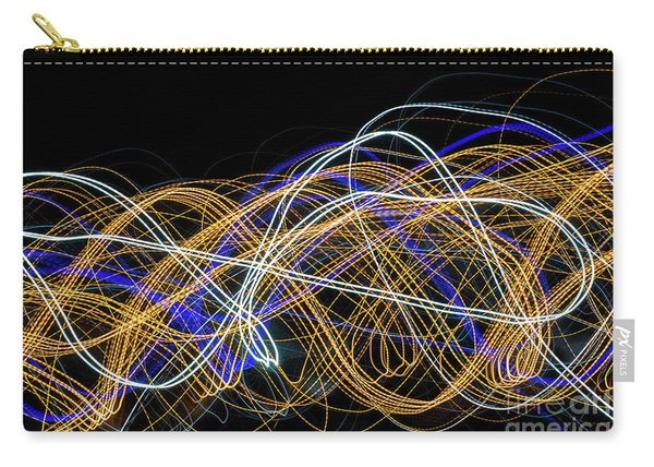 Colorful Light Painting With Circular Shapes And Abstract Black Background. Carry-all Pouch