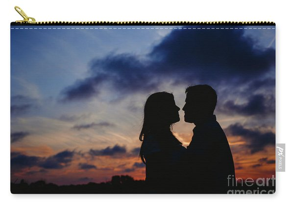 Couple With Cloud Sky Backlight Carry-all Pouch