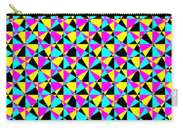 Crazy Psychedelic Art In Chaotic Visual Color And Shapes - Efg22 Carry-all Pouch