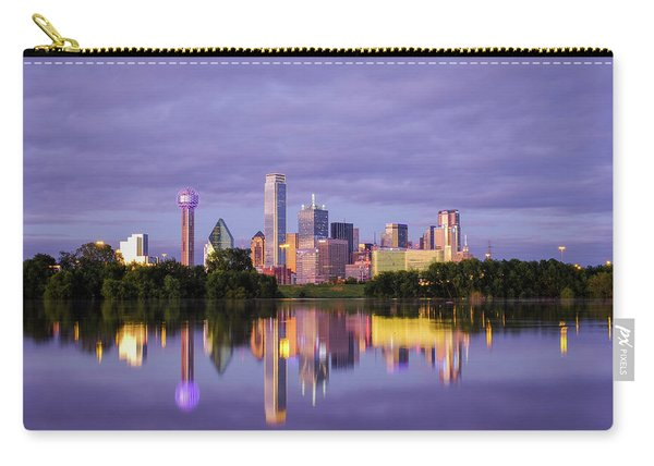 Dallas Texas Cityscape Reflection Carry-all Pouch
