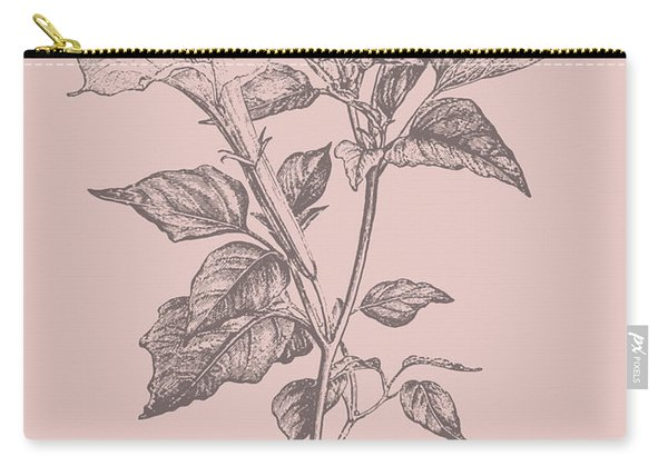 Datura Blush Pink Flower Carry-all Pouch