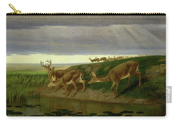 Deer On The Prairie Carry-all Pouch