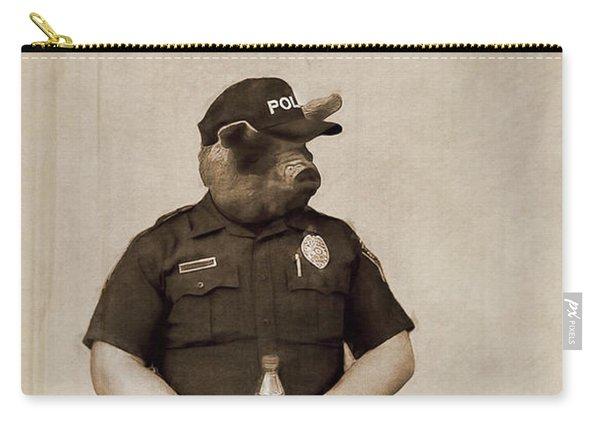 Desert Pig - A Satirical Portrait Carry-all Pouch