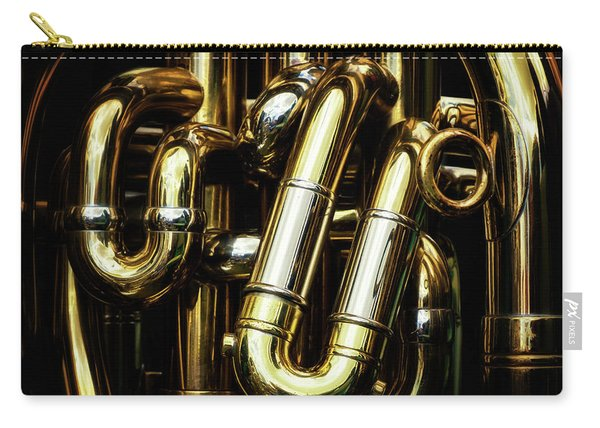 Detail Of The Brass Pipes Of A Tuba Carry-all Pouch