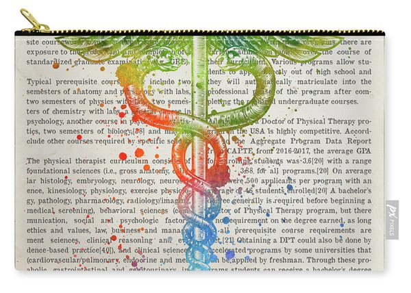Doctor Of Physical Therapy Gift Idea With Caduceus Illustration  Carry-all Pouch