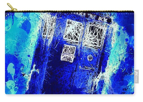Carry-all Pouch featuring the mixed media Doctor Who Tardis by Al Matra