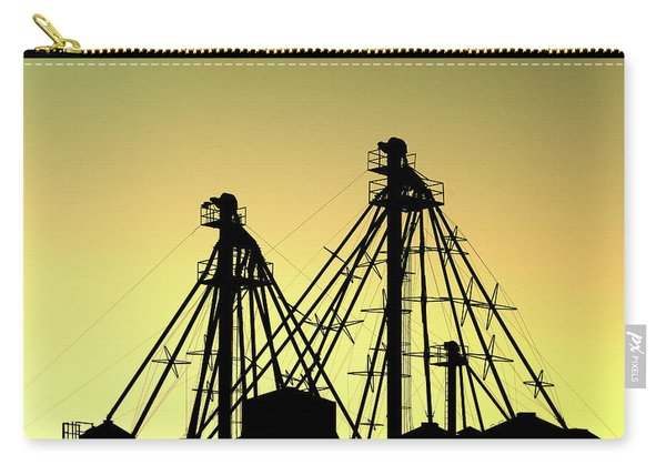 Grain Elevator Silhouette Carry-all Pouch