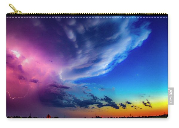 Carry-all Pouch featuring the photograph Epic Nebraska Lightning 007 by NebraskaSC