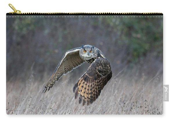 Eurasian Eagle Owl Flying Carry-all Pouch