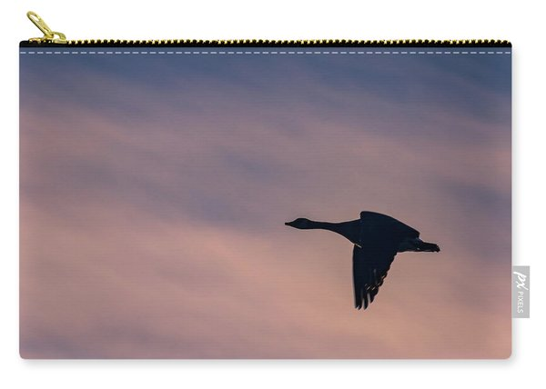 Carry-all Pouch featuring the photograph Evening Flight by Allin Sorenson