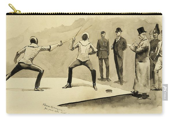 Fencing At Dickel's Academy Carry-all Pouch