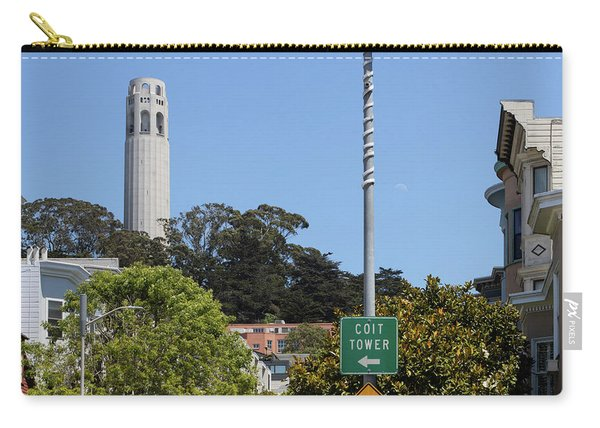 Filbert Street View Of Coit Tower San Francisco California R660 Carry-all Pouch