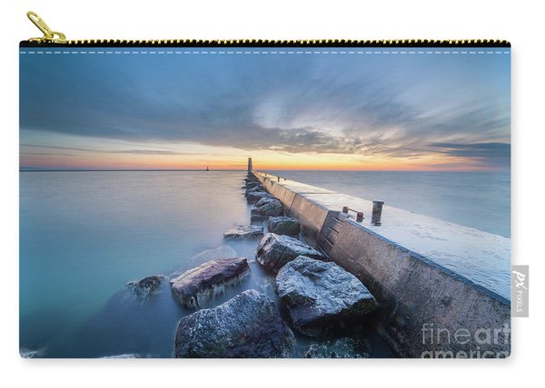 Frankfort Pier At Dusk In Winter Carry-all Pouch