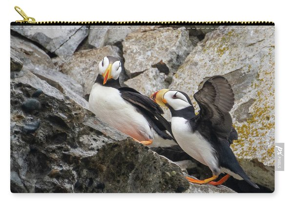 Horned Puffin Pair 2 Carry-all Pouch