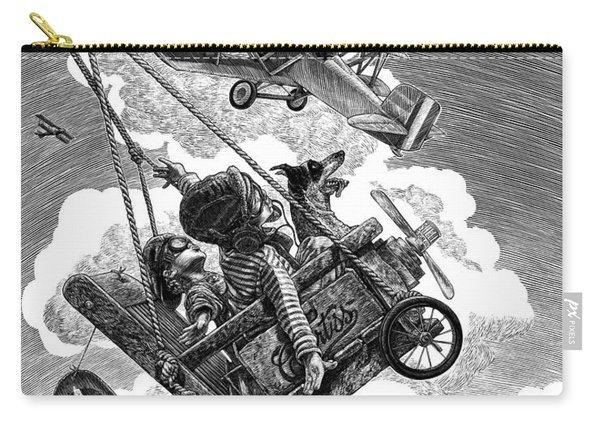 Carry-all Pouch featuring the drawing I Want To Fly by Clint Hansen