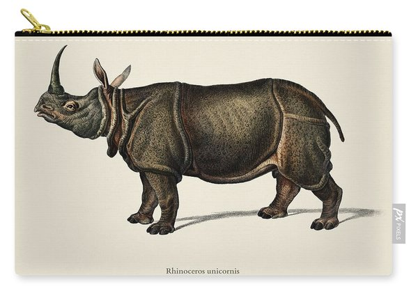 Indian Rhinoceros  Rhinoceros Unicornis  Illustrated By Charles Dessalines D  Orbigny  1806 1876  Carry-all Pouch