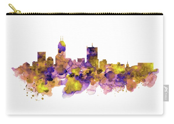 Indianapolis Skyline Silhouette Carry-all Pouch