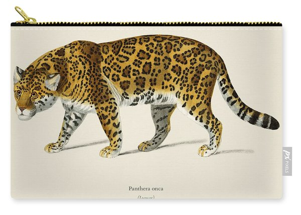 Jaguar  Panthera Onca  Illustrated By Charles Dessalines D  Orbigny  1806 1876  Carry-all Pouch