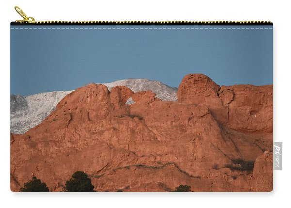 Carry-all Pouch featuring the photograph Kissing Camels by Margarethe Binkley