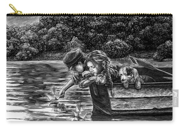 Carry-all Pouch featuring the drawing Launching Dreams by Clint Hansen
