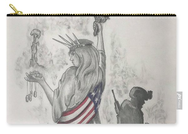 Liberty And Justice For All Carry-all Pouch