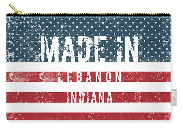 Made In Lebanon, Indiana Carry-all Pouch