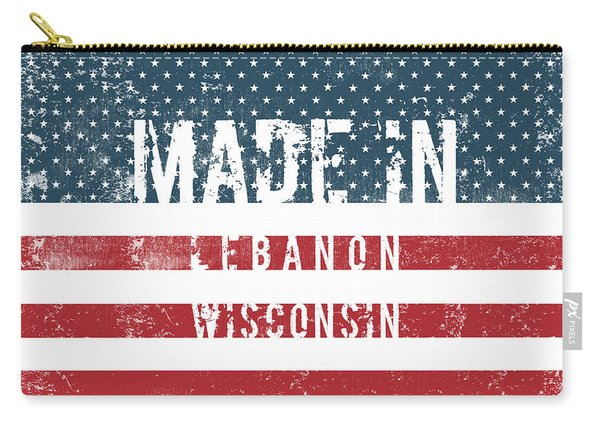 Made In Lebanon, Wisconsin Carry-all Pouch