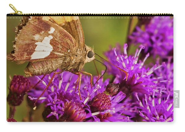 Moth On Purple Flowers Carry-all Pouch