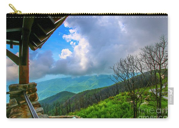 Carry-all Pouch featuring the photograph Observation Tower View by Tom Claud