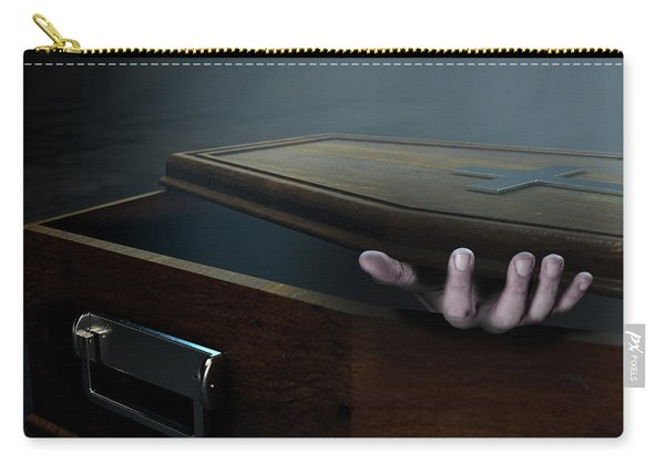 Open Coffin Hand And Crucifix Carry-all Pouch